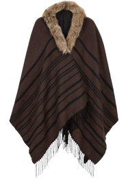 Poncho, bpc bonprix collection, bruin/zwart
