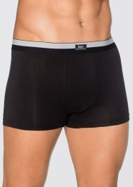 Boxershort (set van 3), bpc bonprix collection, zwart/mat zilverkleur