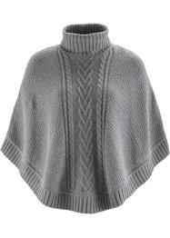 Poncho, bpc bonprix collection, lichtgrijs gemêleerd