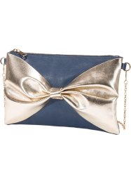 Clutch, bpc bonprix collection, donkerblauw/goudkleur