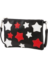 Clutch, bpc bonprix collection, rood/zwart/wit
