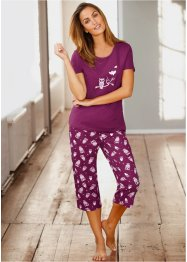 Pyjama, bpc bonprix collection, bessen/wit