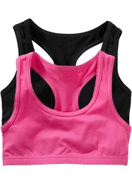 Bustier (set van 2), bpc bonprix collection, pink/zwart
