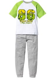 Pyjama (2-dlg. set), bpc bonprix collection, groen/wit