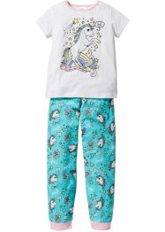Pyjama (2-dlg. set), bpc bonprix collection, wolwit/aqua