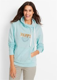 Sweatshirt, bpc bonprix collection, poolmint met print