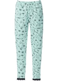 Legging, bpc selection, pastelmint/zwart gedessineerd