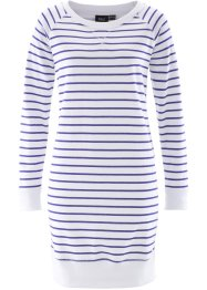 Sweatjurk, bpc bonprix collection, saffierblauw/wit