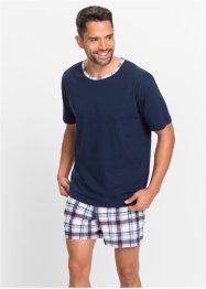 Shorty (2-dlg.), bpc bonprix collection, donkerblauw geruit