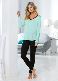 Longsleeve (set van 2), bpc selection, pastelmint+melba gedessineerd