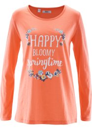 Longsleeve, bpc bonprix collection, zalmkleur met print