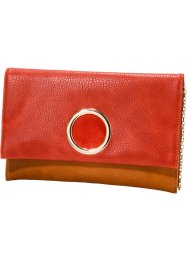 Clutch, bpc bonprix collection, rood/cognac