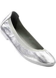 Ballerina's, bpc bonprix collection, lichtgrijs metallic