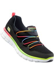 Instappers, Skechers, zwart multicolor
