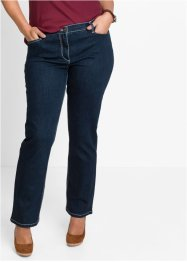 Corrigerende stretchjeans STRAIGHT, John Baner JEANSWEAR, donkerblauw