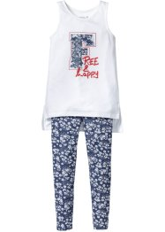 Longtop+legging (2-dlg. set), bpc bonprix collection, indigo gedessineerd