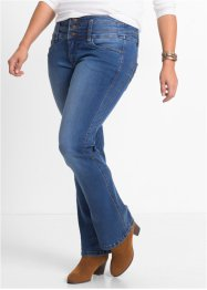 Corrigerende stretchjeans bootcut, John Baner JEANSWEAR, blauw