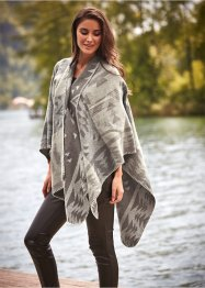 Poncho, bpc bonprix collection, kiezelbeige/middenbruin