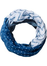 Tunnelsjaal, bpc bonprix collection, donkerblauw/wit
