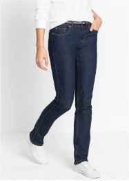 Stretchjeans+riem STRAIGHT, John Baner JEANSWEAR, donkerblauw