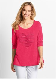 Shirt, bpc bonprix collection, hibiscuspink met print