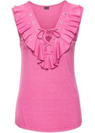 Top, BODYFLIRT, mat pink