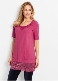 Longshirt, bpc bonprix collection, lichtfuchsia