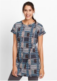 Longshirt, bpc bonprix collection, donkerblauw met print
