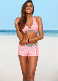 Zwemshort, bpc bonprix collection, pink/wit gedessineerd