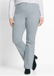 Stretchbroek «bootcut», bpc bonprix collection, zilvergrijs