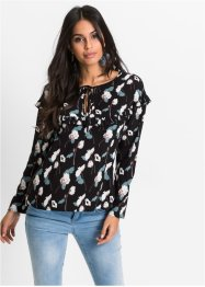 Blouse, BODYFLIRT, zwart gedessineerd