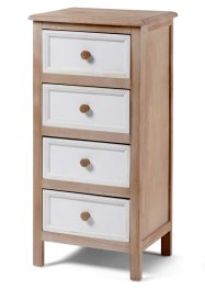 Commode «Stella» (4 lades), bpc living, naturel/wit
