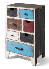 Commode «Betty», bpc living, wit/bruin