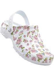 Clogs, bpc bonprix collection, wit gebloemd