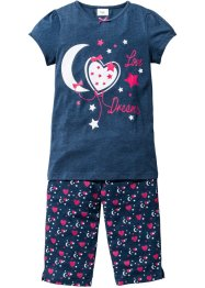 Pyjama (2-dlg. set), bpc bonprix collection, blauw gemêleerd