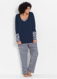 Pyjama, bpc bonprix collection, wit/donkerblauw gestreept
