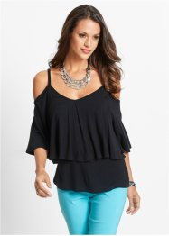 Off-shoulder-shirt, bpc selection, zwart