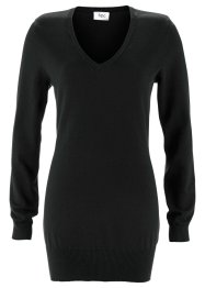 Longpullover, bpc bonprix collection, zwart