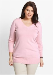 Longpullover, bpc bonprix collection, parelroze