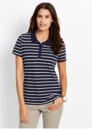 Poloshirt, bpc bonprix collection, donkerblauw/wit gestreept