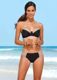 Beugelbikini minimizer (2-dlg. set), bpc bonprix collection, zwart/ecru