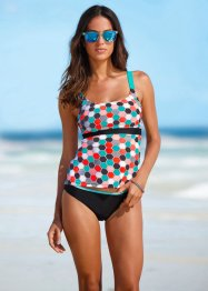 Tankini minimizer (2-dlg. set), bpc bonprix collection, zwart gedessineerd
