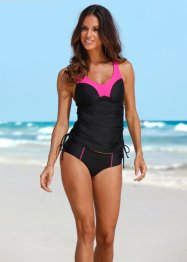Tankini minimizer (2-dlg. set), bpc bonprix collection, pink/zwart