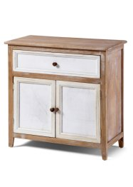 Commode «Stella» (2 deuren), bpc living, naturel/wit