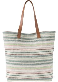 Shopper, bpc bonprix collection, wolwit/bruin/multicolor