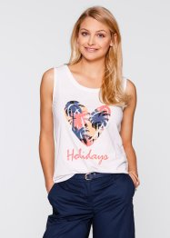 Top, bpc bonprix collection, wit met print