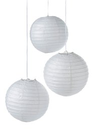 Lampions (set van 8), bpc living, wit
