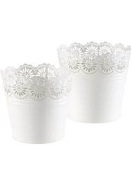 Bloempot «Lilly» (2-dlg. set), bpc living, wit