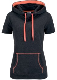 Sweatshirt, bpc bonprix collection, zwart/neonzalmkleur