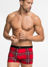 Boxershort (set van 3), bpc bonprix collection, rood geruit